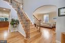 Entrance Foyer with Oak staircase - 4610 MOCKINGBIRD LN, FREDERICK