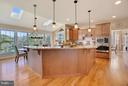 Maple raised panel Cabinets & Granite in Kitchen - 4610 MOCKINGBIRD LN, FREDERICK
