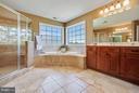 Spa style Master Bath w/ beautiful mountain views - 4610 MOCKINGBIRD LN, FREDERICK