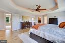 Handscrapped white Oak flooring & backlit ceiling - 4610 MOCKINGBIRD LN, FREDERICK
