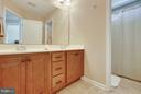 Third bathroom w/ double  vanities - 4610 MOCKINGBIRD LN, FREDERICK