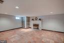 Lower Level rec room with wood-burning fireplace - 506 NORWOOD ST, ARLINGTON