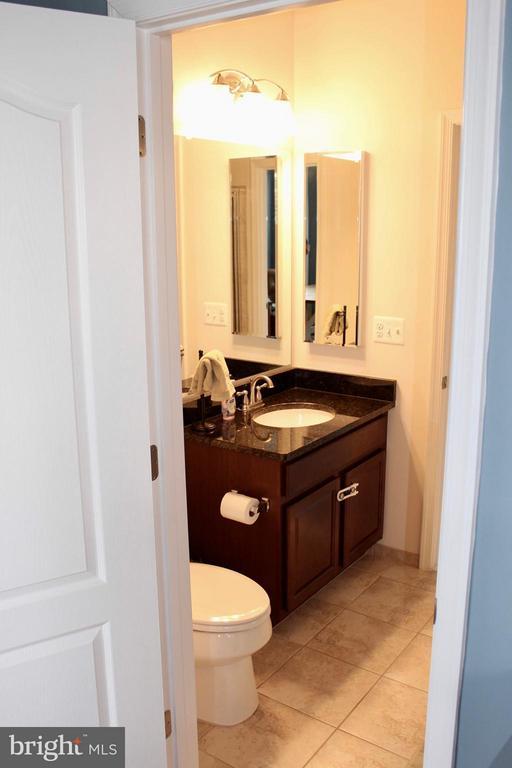 Main lv full bath upgraded tile, granite, fixtures - 41846 APATITE SQ, ALDIE