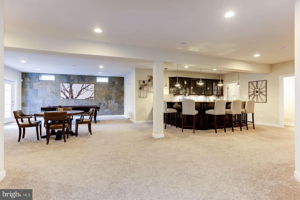 Finished rec room and bar with enhanced lighting - 40736 WILD PLUM DR, ALDIE