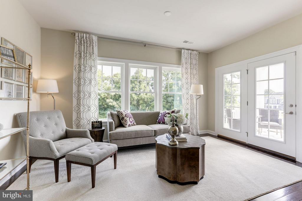 Owner's suite sitting area with covered porch - 40736 WILD PLUM DR, ALDIE
