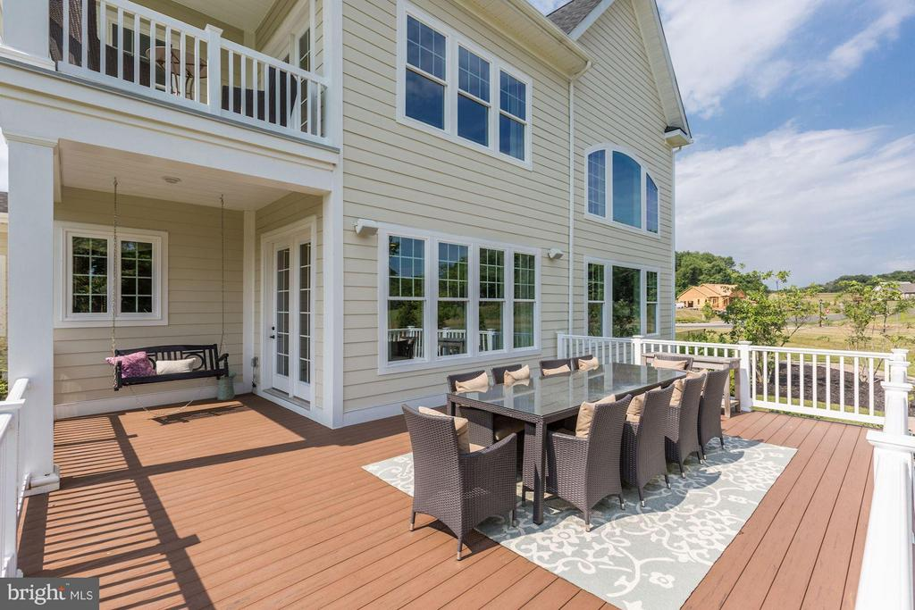 Maintenance free covered porches and deck - 40736 WILD PLUM DR, ALDIE