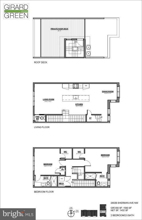 Floor Plan - 2802 SHERMAN AVE NW #B, WASHINGTON