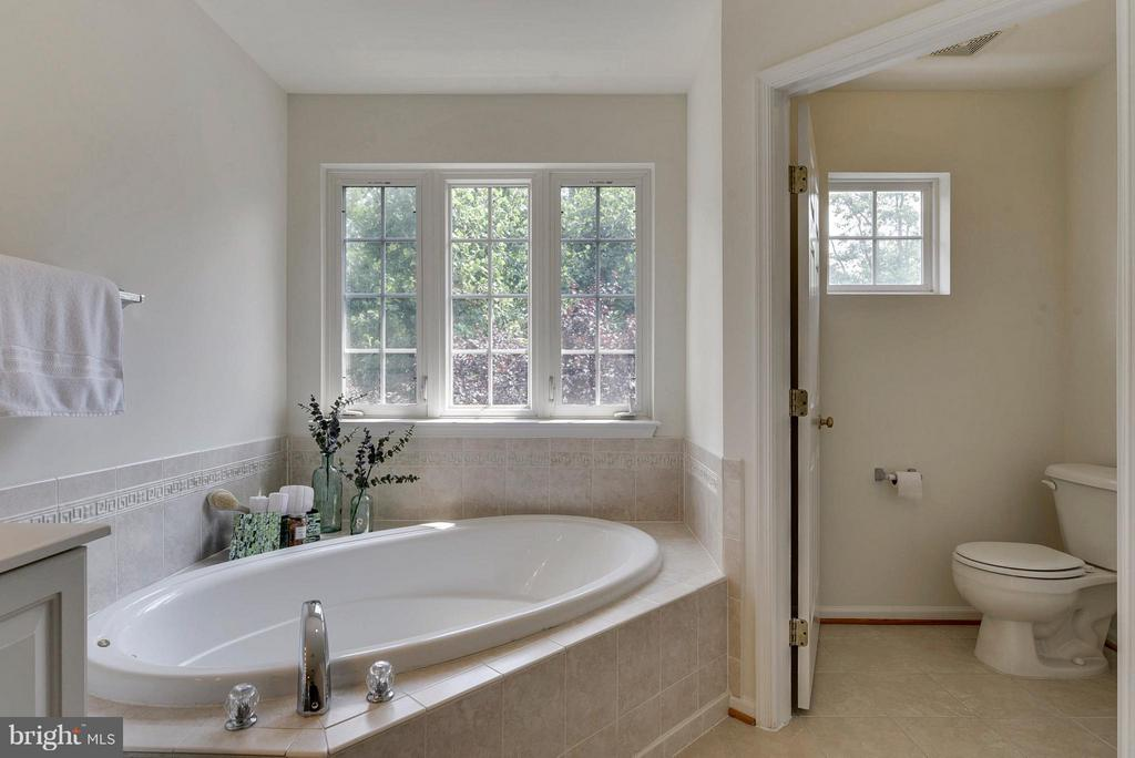 Soaking tub in master bath - 16020 BARN SWALLOW PL, WOODBRIDGE