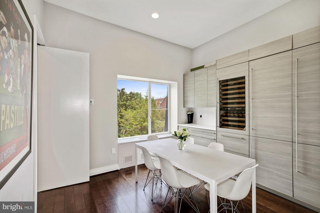 Breakfast Room with Custom Built In Wine Cooler - 3251 PROSPECT ST NW #402, WASHINGTON