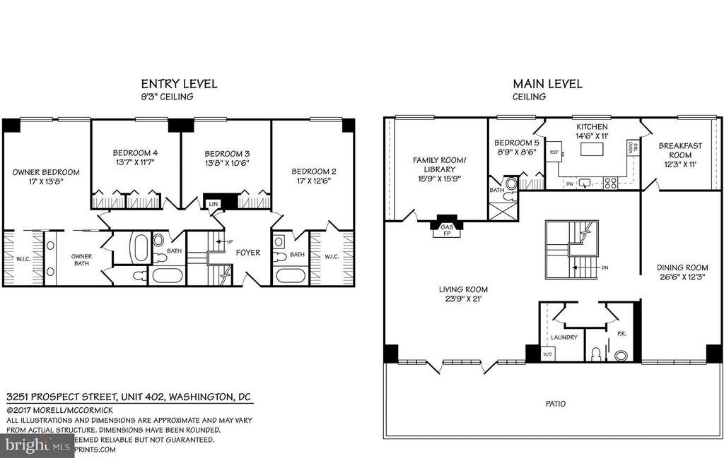 Floor Plans - 3251 PROSPECT ST NW #402, WASHINGTON
