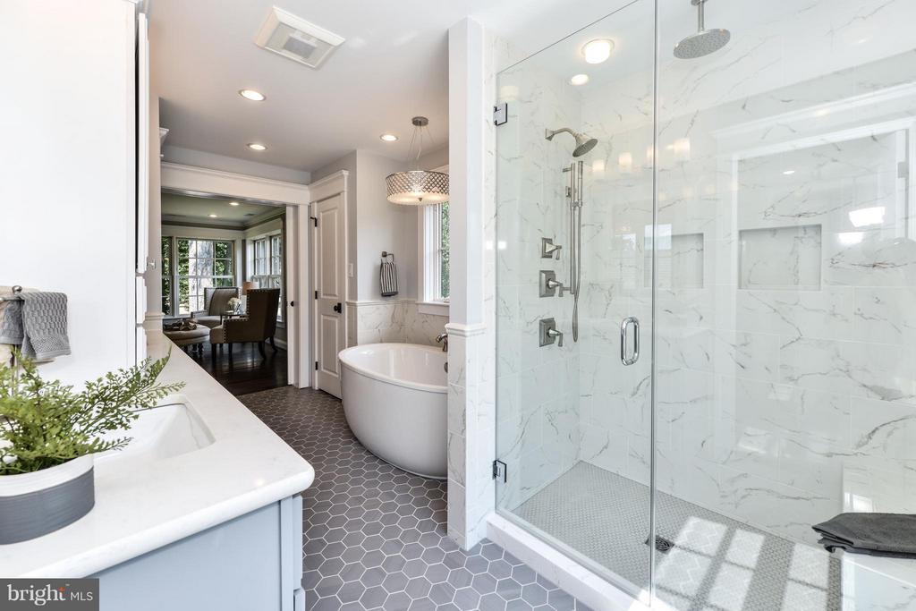 Master bath with large walk-in shower - 2779 WAKEFIELD ST, ARLINGTON