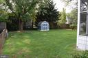 Large, fenced back yard - 4402 COLFAX ST, KENSINGTON