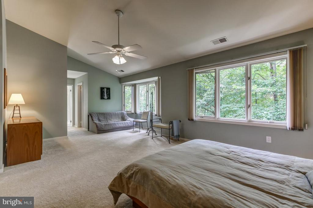 Luxurious Master Suite also offers views of Yard - 1511 N VILLAGE RD, RESTON