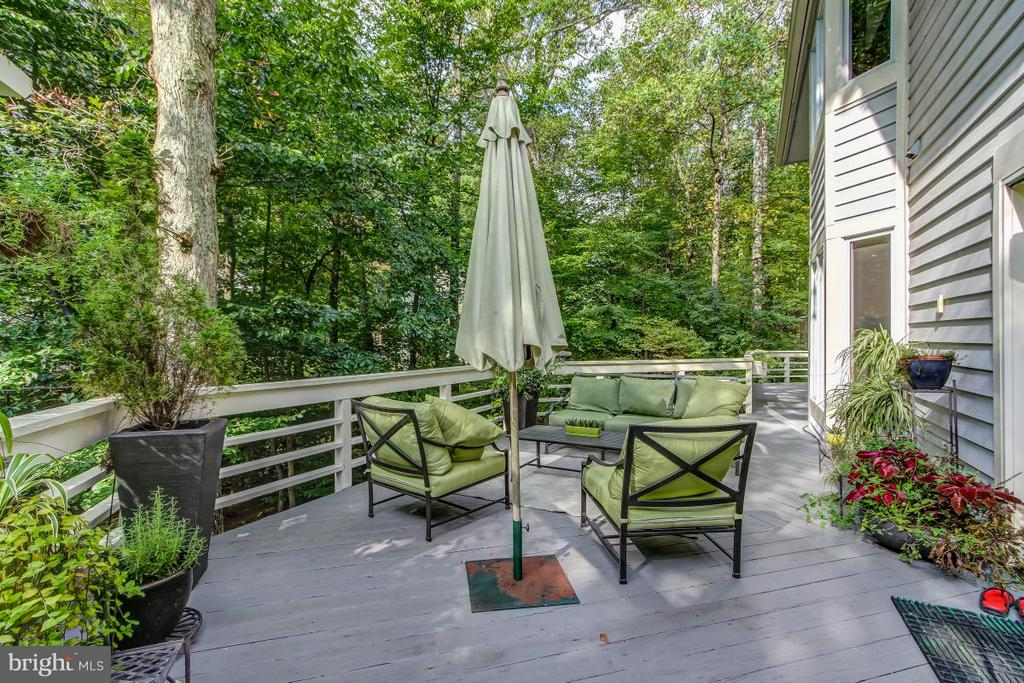 Terrific Deck spans rear of the house - 1511 N VILLAGE RD, RESTON