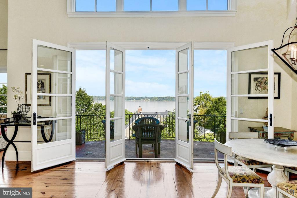 Take it all in when you open these French doors - 7705 NORTHDOWN RD, ALEXANDRIA