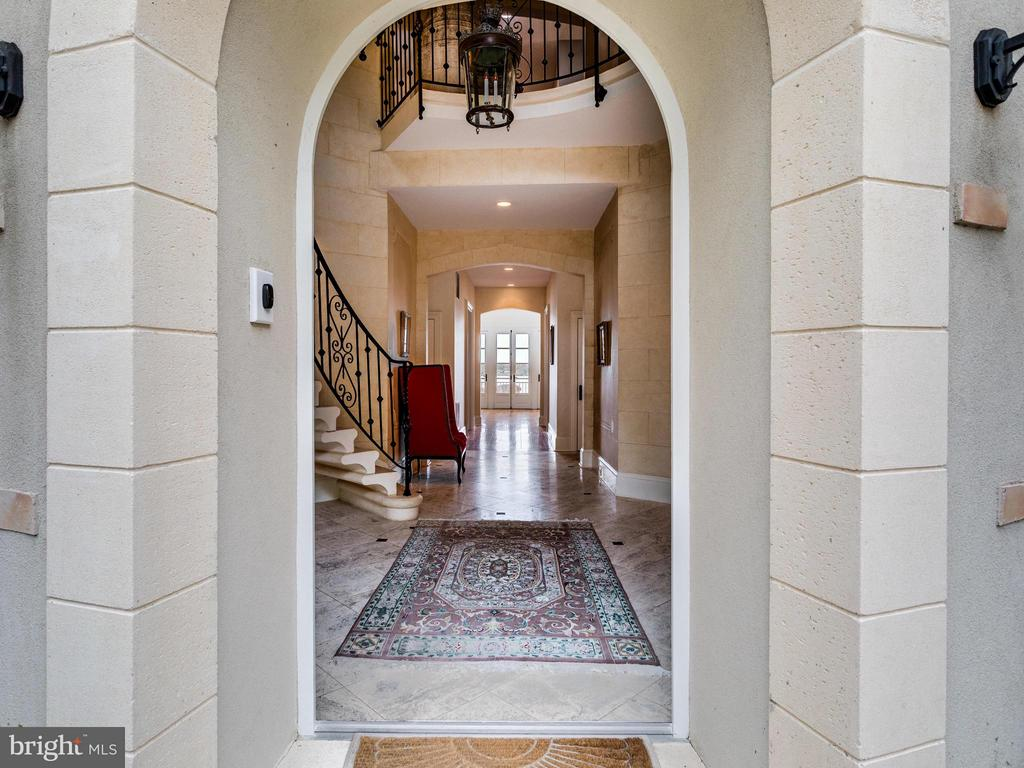 French Architecture is evident as you enter - 7705 NORTHDOWN RD, ALEXANDRIA