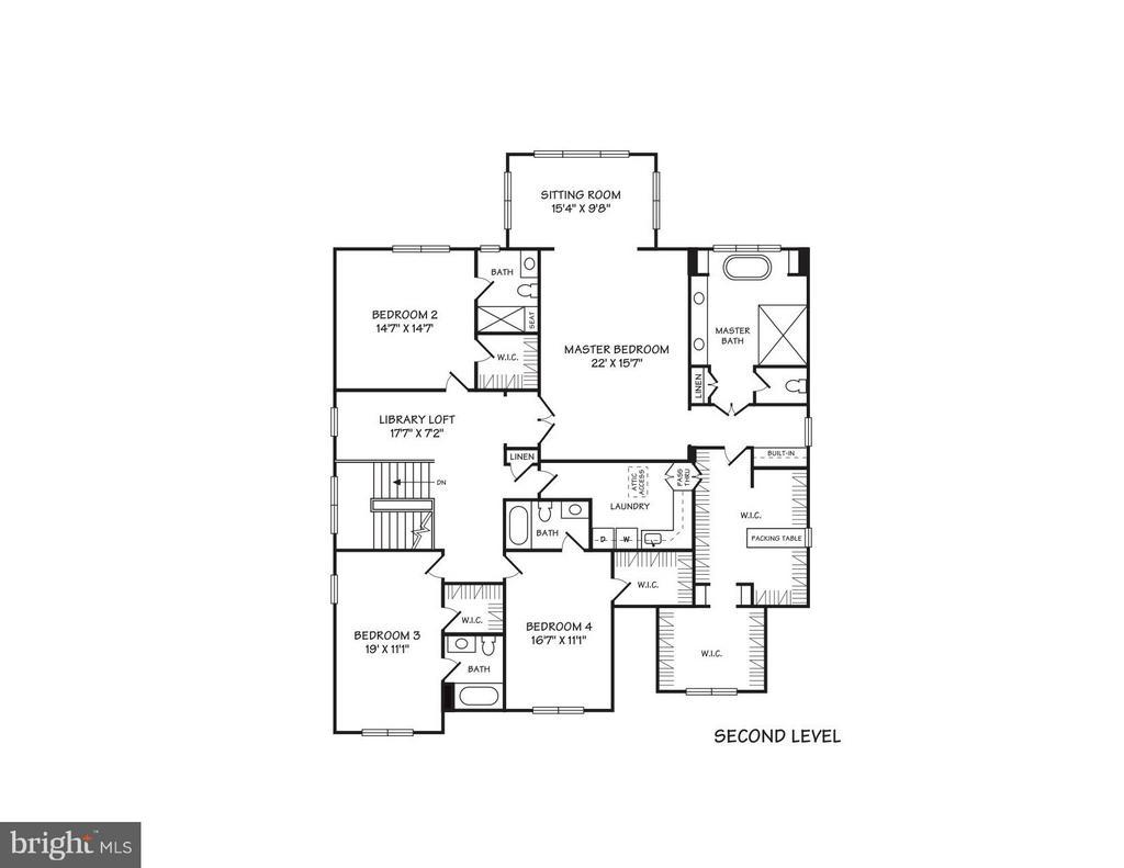 Upper Level Conceptual Floor Plans - 4011 26TH ST N, ARLINGTON