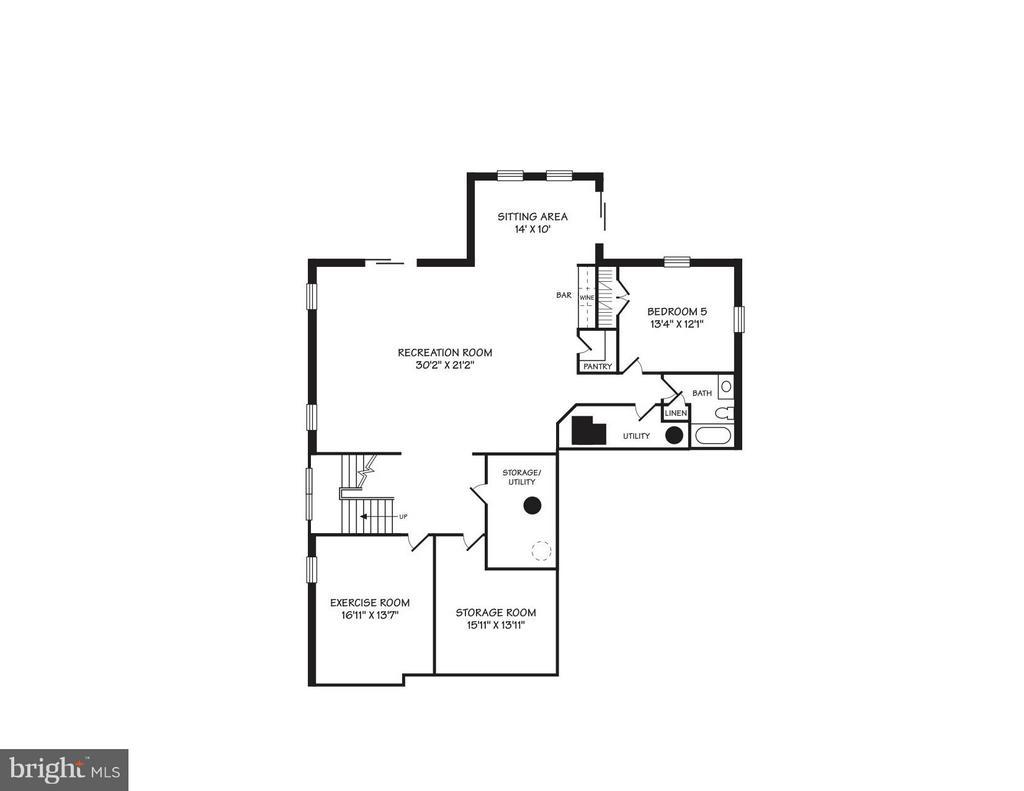 Lower Level Conceptual Floor Plans - 4011 26TH ST N, ARLINGTON