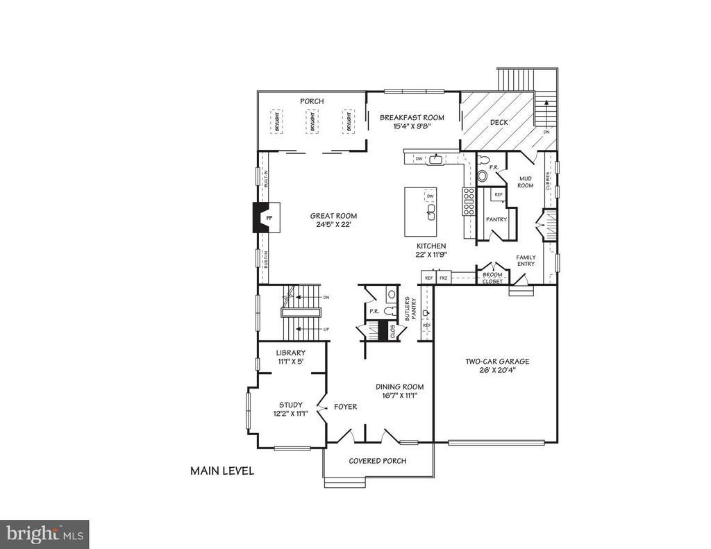 Main Level Conceptual Floor Plans - 4011 26TH ST N, ARLINGTON