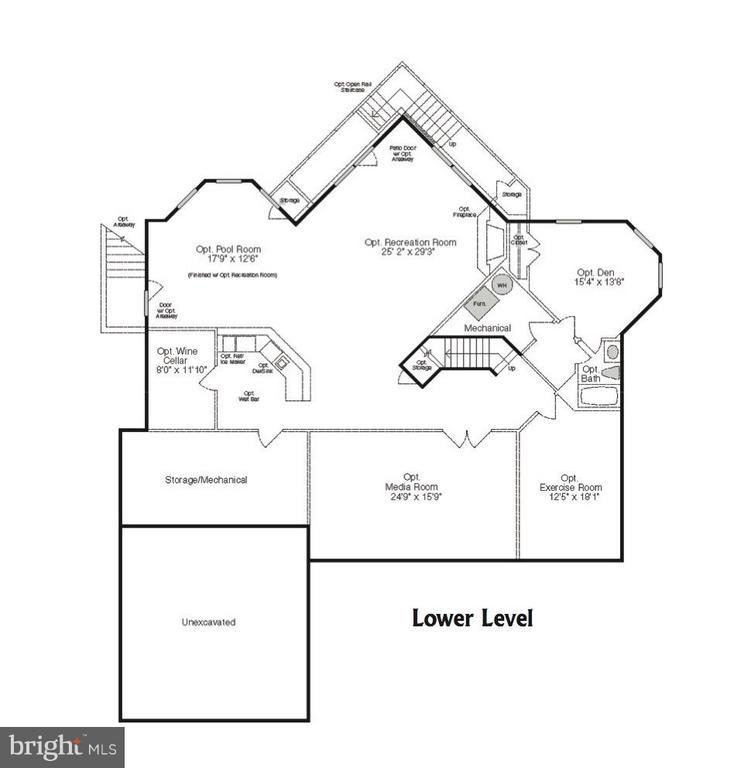 Lower Level Floor Plan - 9109 DARA LN, GREAT FALLS
