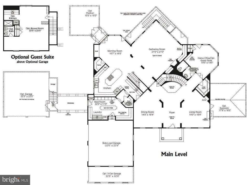 Main Level Floor Plan - 9109 DARA LN, GREAT FALLS