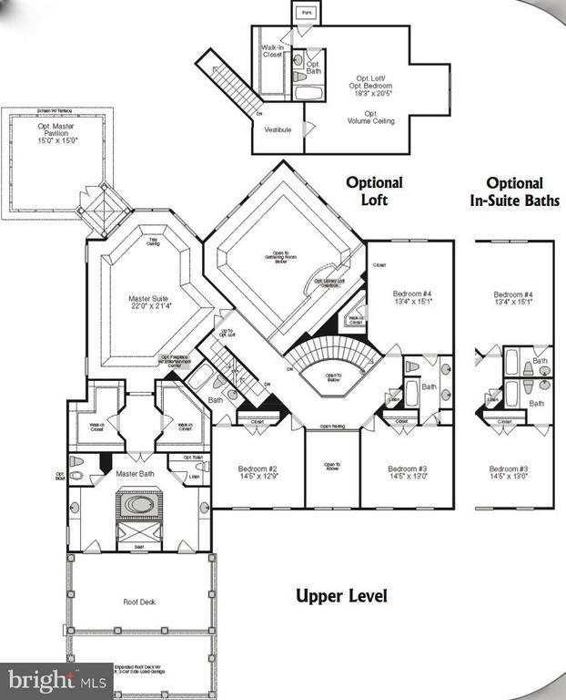 Upper Level Floor Plan - 9109 DARA LN, GREAT FALLS