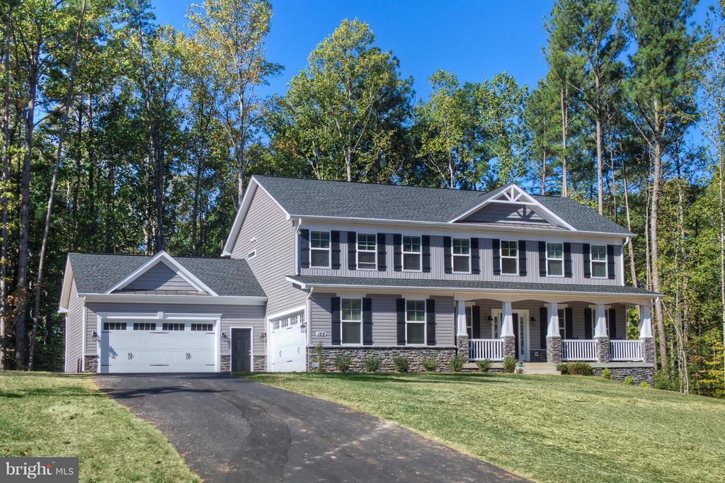 shown with optional 4 car garage with workshop are - 12 CHESAPEAKE DR, STAFFORD