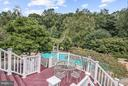 One of Four Tiered Decks Overlooking Pool - 5605 SILVER OAK CT, ROCKVILLE