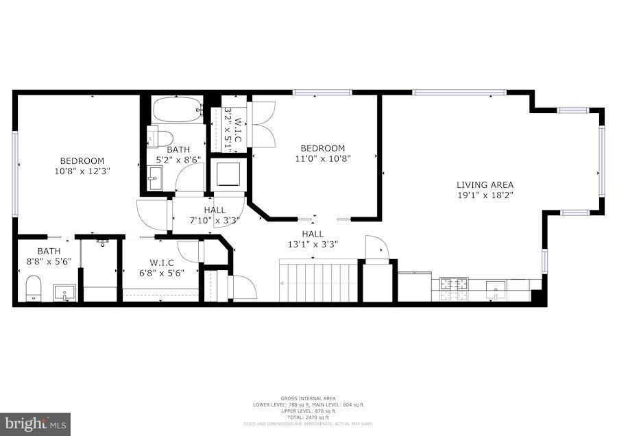 Upper floor - 1223 5TH ST NW, WASHINGTON