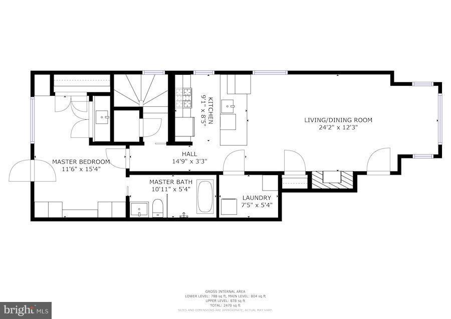 Main floor - 1223 5TH ST NW, WASHINGTON