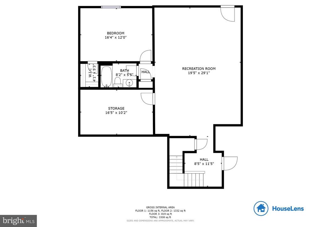 Basement floor plan - 209 UPPER HEYFORD PL, PURCELLVILLE