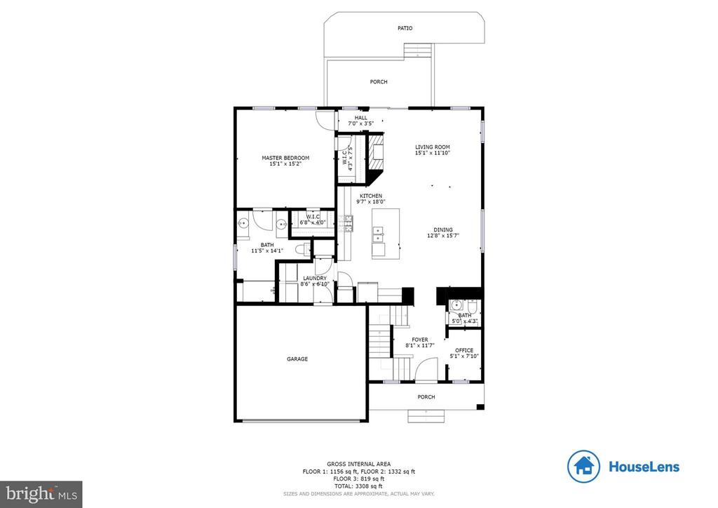 Main level floor plan - 209 UPPER HEYFORD PL, PURCELLVILLE