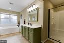 Dual vanities and a separate shower - 17296 CEDAR BLUFF CT, ROUND HILL