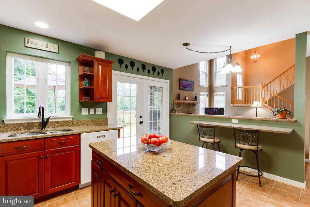 Island is perfect for food prep - 17296 CEDAR BLUFF CT, ROUND HILL