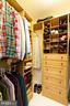 Master closet #1 w/ organizer - 17296 CEDAR BLUFF CT, ROUND HILL