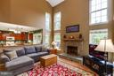 Wood burning fireplace - 17296 CEDAR BLUFF CT, ROUND HILL