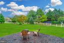 Spacious backyard is fenced - 17296 CEDAR BLUFF CT, ROUND HILL