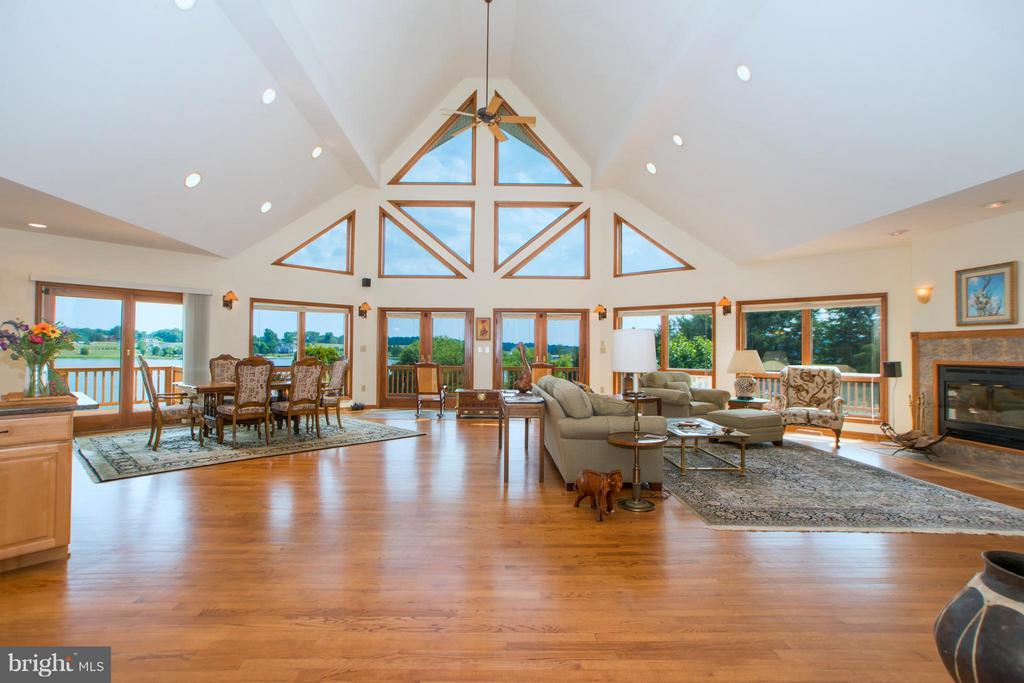 Fabulous water views from Living Room - 5807 BLUE RIDGE RD, MINERAL