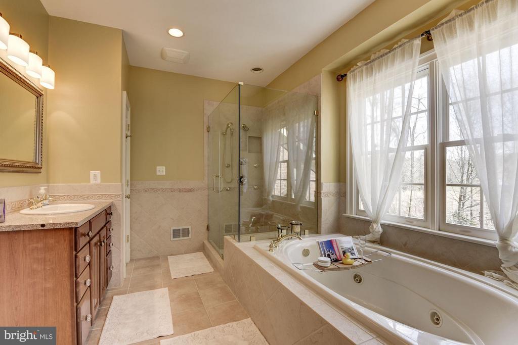 Master Bathroom with Jetted Soaking Tub - 11203 GUNSTON RD, LORTON