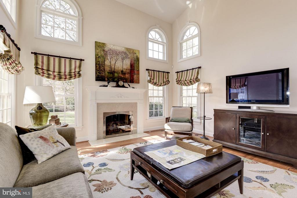 Family Room with Arched Palladian Windows - 11203 GUNSTON RD, LORTON