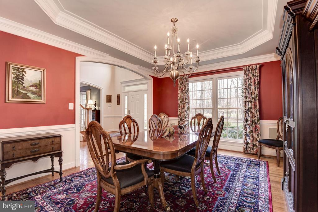 Formal Dining Room with Custom Trim - 11203 GUNSTON RD, LORTON