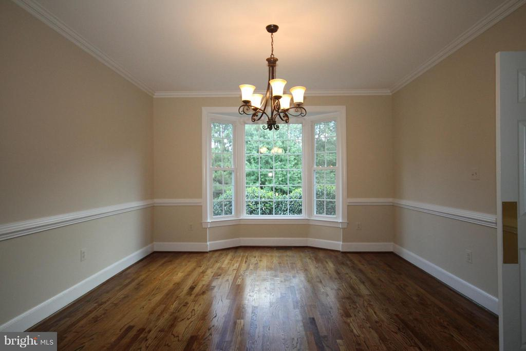 Dining Room with bay window - 1209 TOTTENHAM CT, RESTON