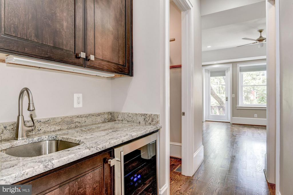 Wet bar w/wine cooler in the master bedroom - 1728 P ST NW, WASHINGTON