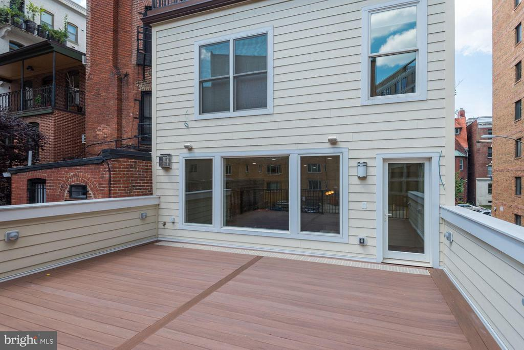 You can access the rear deck from the great room - 1728 P ST NW, WASHINGTON