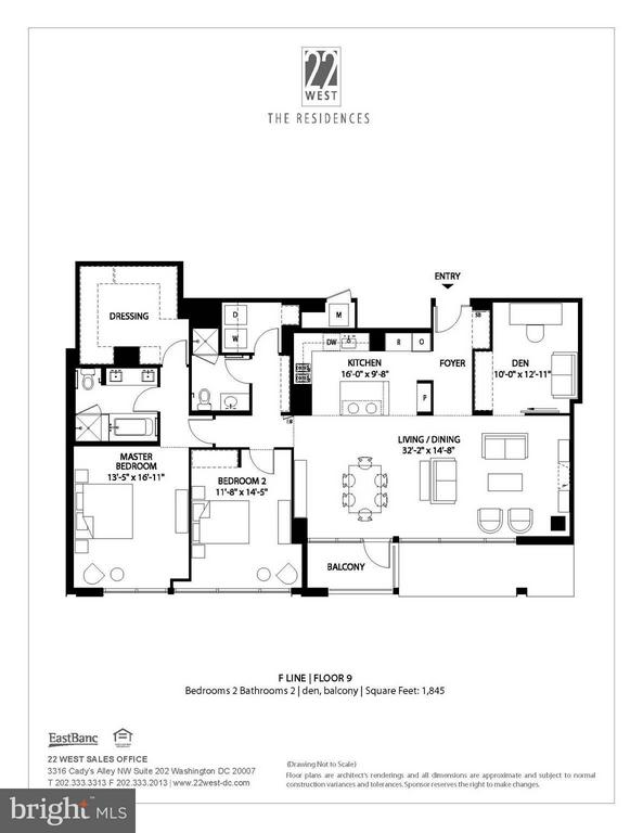 Floor Plan - 1177 22ND ST NW #9F, WASHINGTON