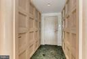 Foyer with paneling on the wall - 5600 WISCONSIN AVE #803, CHEVY CHASE