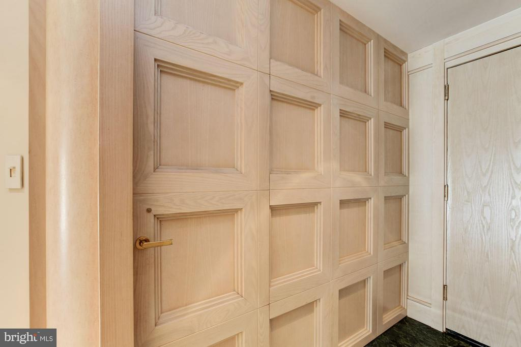 Close up of wall paneling in foyer - 5600 WISCONSIN AVE #803, CHEVY CHASE