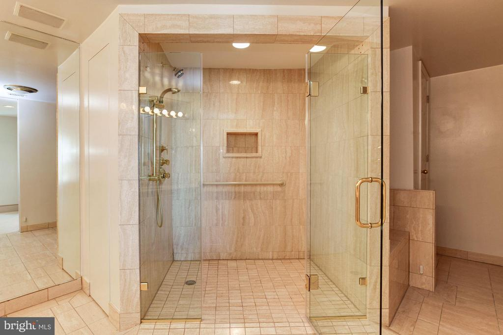 Large, walk-in shower in master bathroom - 5600 WISCONSIN AVE #803, CHEVY CHASE