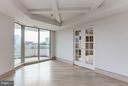 Living Room w/ French door to library/office - 5600 WISCONSIN AVE #803, CHEVY CHASE