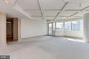 Master bedroom with wall of windows - 5600 WISCONSIN AVE #803, CHEVY CHASE